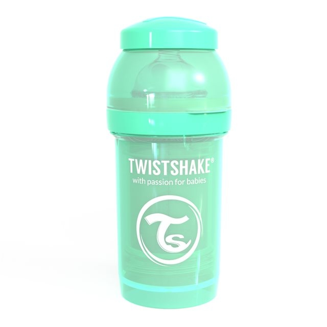 TWISTSHAKE - BIBERON ANTICOLIQUE 180ML PASTEL VERT