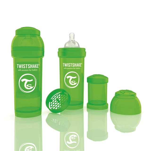 TWISTSHAKE - BIBERON ANTICOLIQUE 260ML VERT