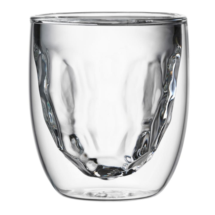 Elements set of 2 double-walled glasses metal 75ml