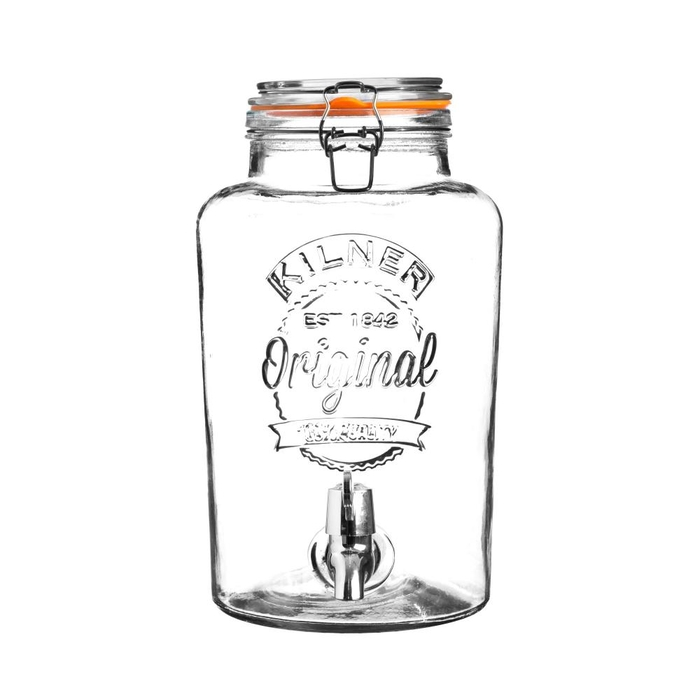 Round drinks dipsenser with tap in gift box 5l