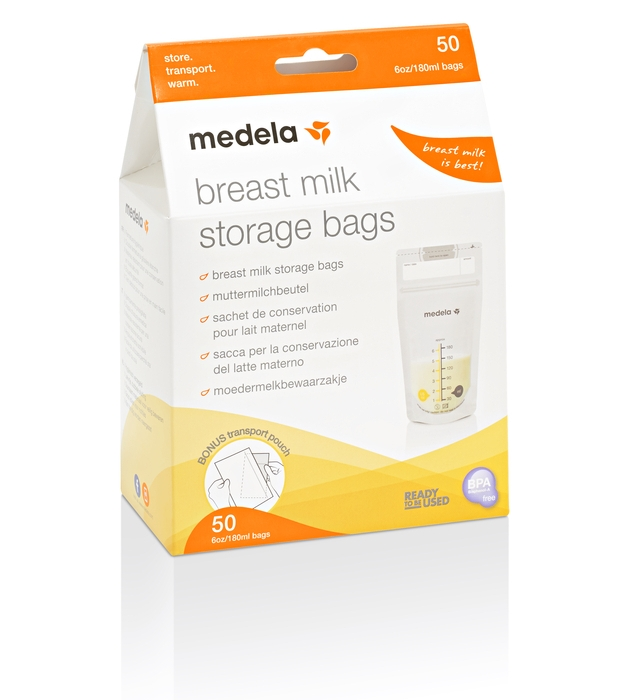 MEDELA - 50 BREAST MILK STORAGE BAGS
