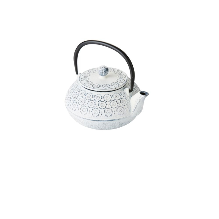 Cast iron teapot with filter cream 850ml