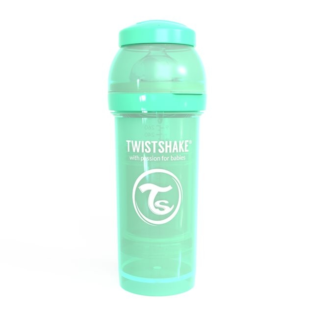 TWISTSHAKE - BIBERON ANTICOLIQUE 260ML PASTEL VERT
