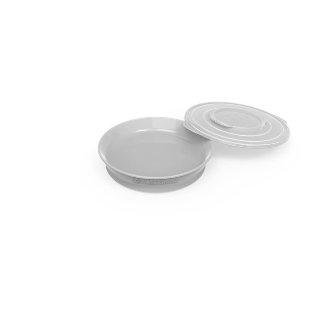 TWISTSHAKE - ASSIETTE PASTEL GREY