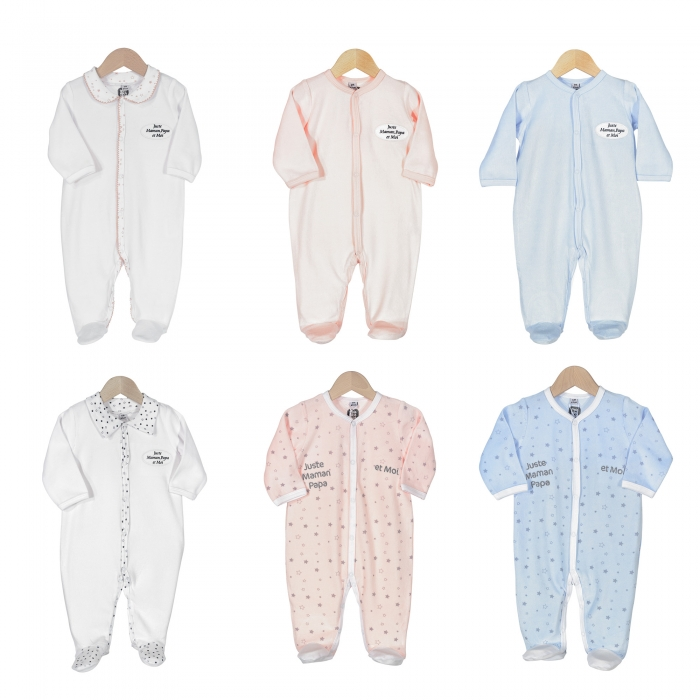 TROIS KILOS SEPT - ROMPERS FO ASSORTMENT 3M MUM AND DAD