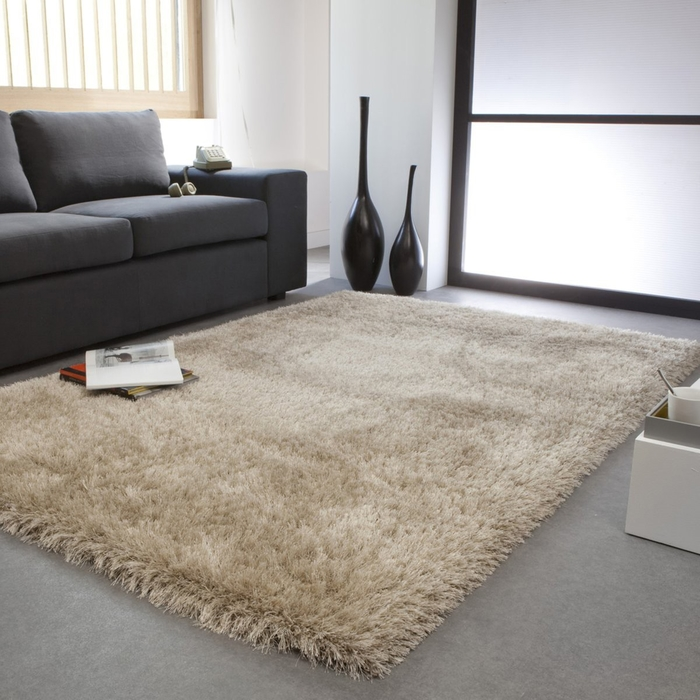 Tapis shaggy, Hakin 200 x 290 Taupe clair