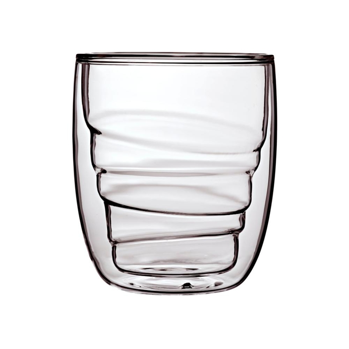Elements set of 2 double-walled glasses wood 210ml