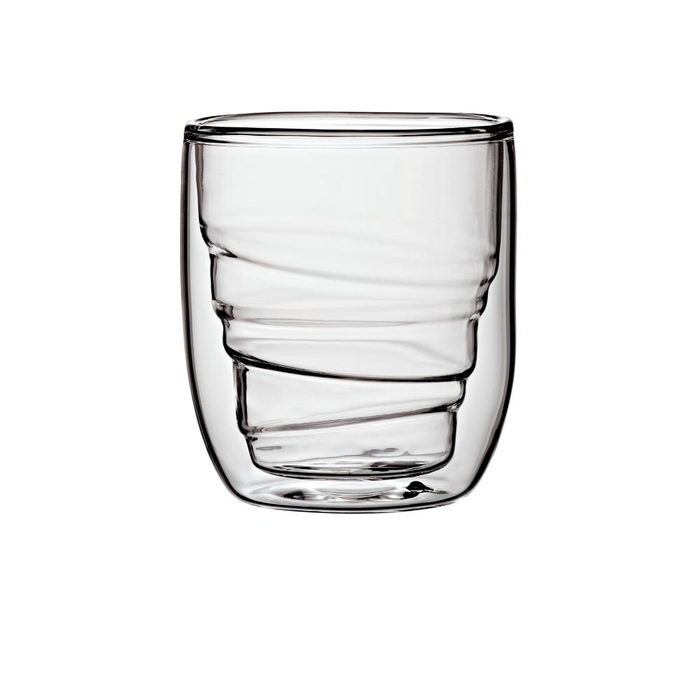 Elements set of 2 double-walled glasses wood 75ml