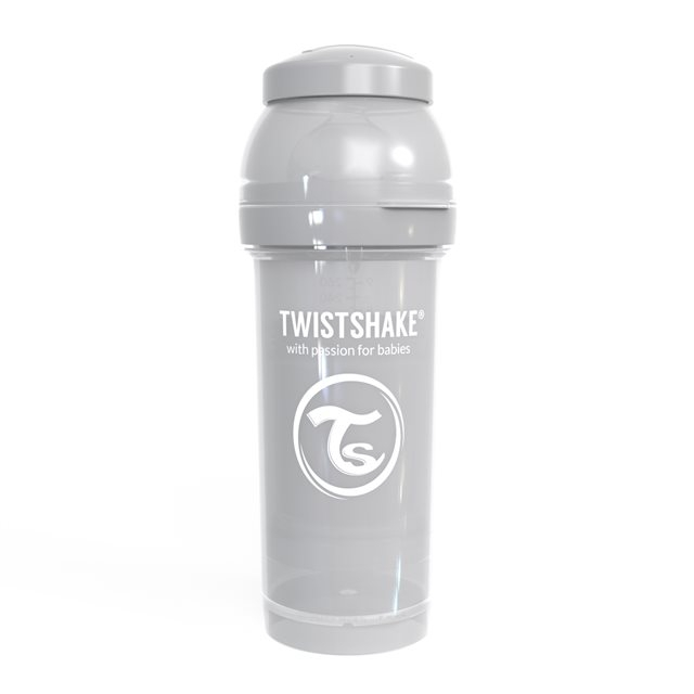 TWISTSHAKE - BIBERON ANTICOLIQUE 260ML PASTEL GREY