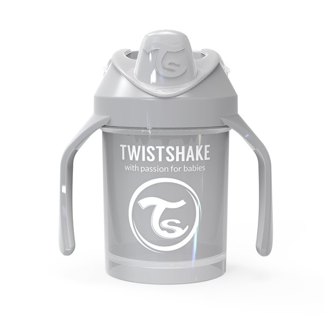 TWISTSHAKE - GOBELET 230ML AVEC POIGNEES PASTEL GREY (MINI CUP)