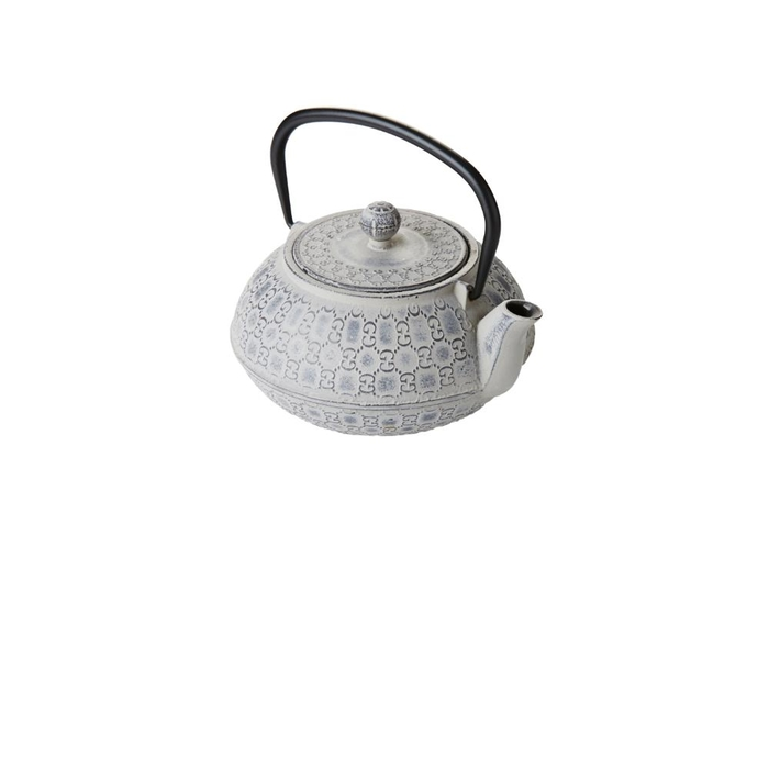 Cast iron teapot with filter silver grey 1l
