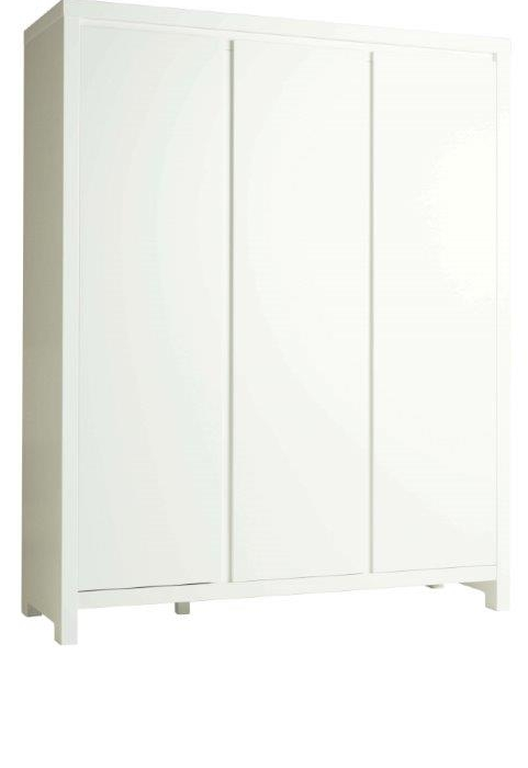 PERICLES - MONACO WHITE 3 DOORS WARDROBE WITH SOFT CLOSERS