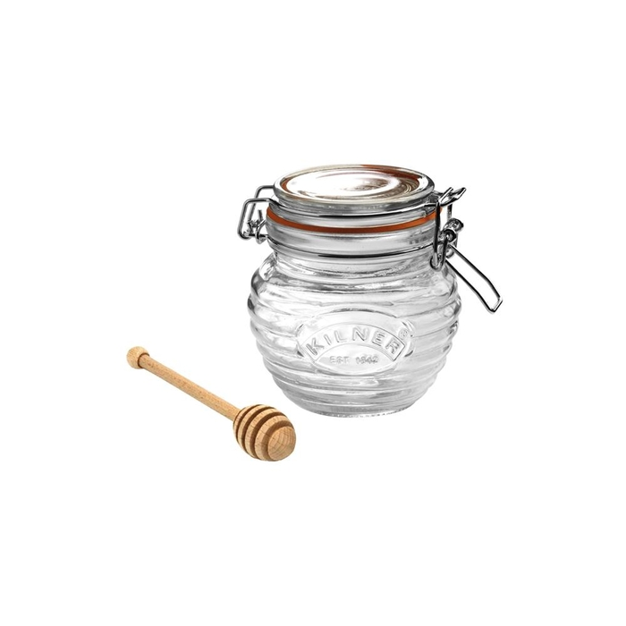 Honeypot with wooden honey spoon in gift box 400ml