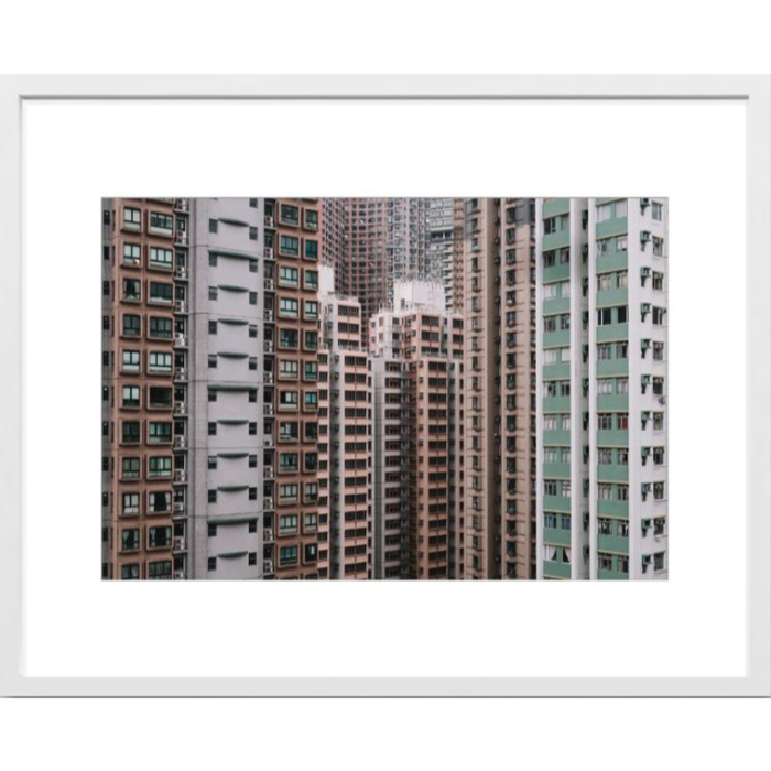 Art Photo in White wood frame 40x50