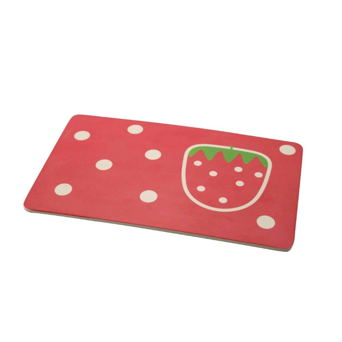 Bamboo fiber breakfast board strawberry 23x14x0.3cm