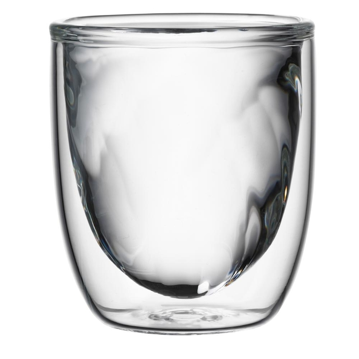 Elements set of 2 double-walled glasses fire 75ml
