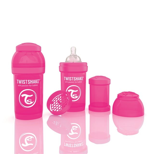 TWISTSHAKE - BIBERON ANTICOLIQUE 180ML PINK