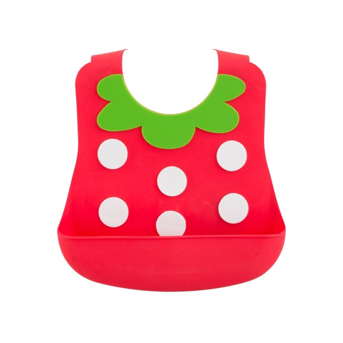 Silicone baby bib strawberry