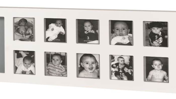 BABY ART - My First Year photo print frame - White