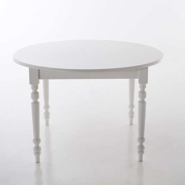 Table ronde, 4 couverts, Authentic Style 4 personnes Blanc