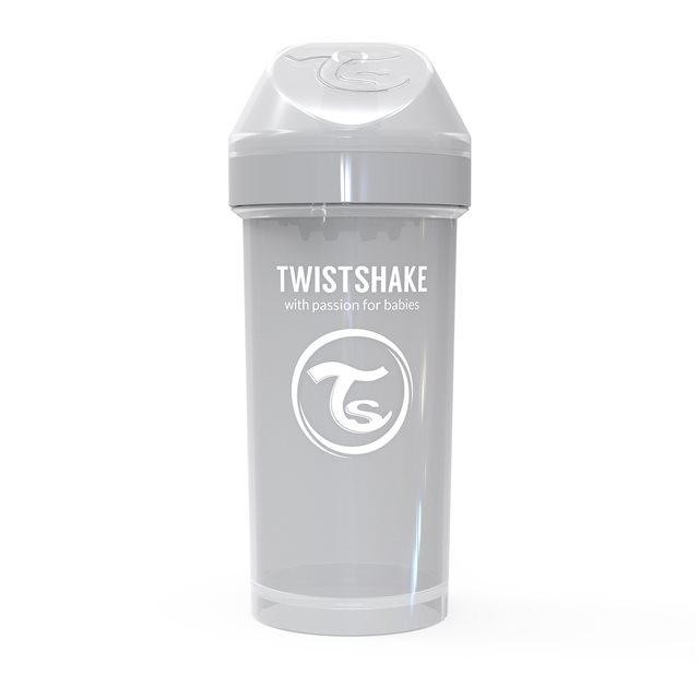 TWISTSHAKE - GOBELET 360ML PASTEL GREY  (KID CUP)