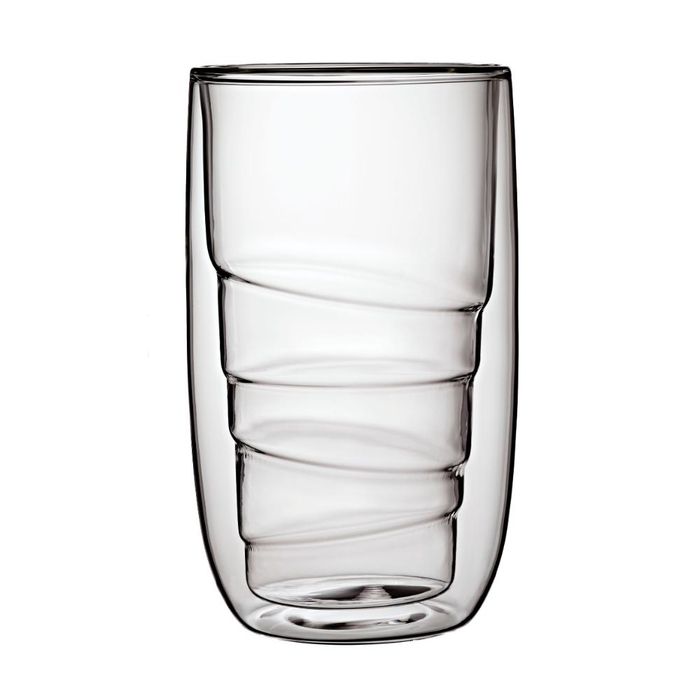 Elements set of 2 double-walled glasses wood 350ml