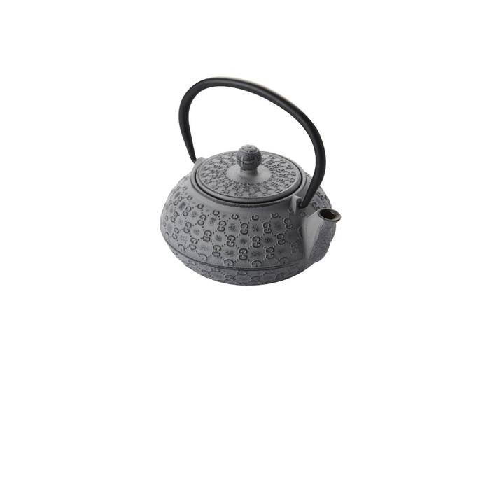 Cast iron teapot with filter silver grey 400ml