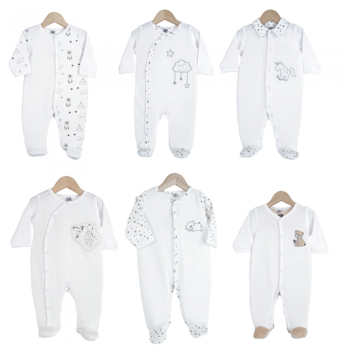 TROIS KILOS SEPT - ROMPERS FO ASSORTMENT 3M SLEEPING