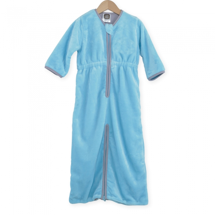TROIS KILOS SEPT - SLEEPING BAG 90 CM FLANELL A JAMBES TURQUOISE